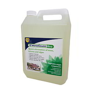 Remove mould, moss, lichen and algae with D'MossGuard